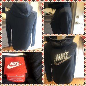 Like New Nike Funnel Neck Hooded Sweatshirt